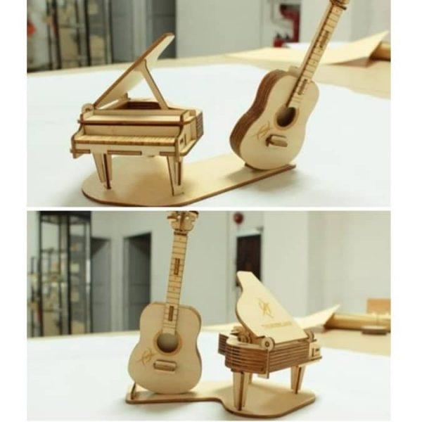 Настольные фигурки рояль и гитара