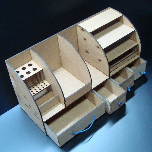 Макет органайзера для инструмента и мелочей