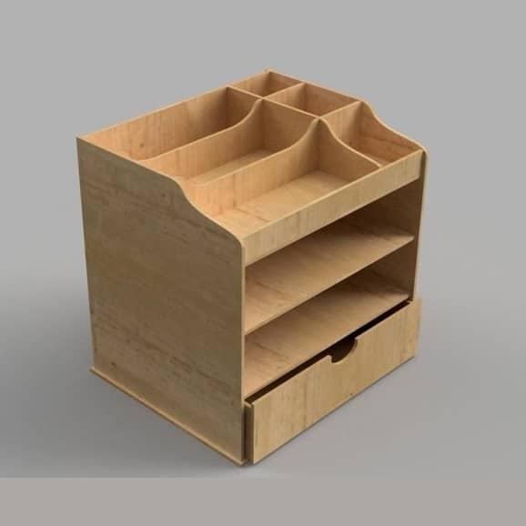 Органайзер с ячейками и ящиком макет