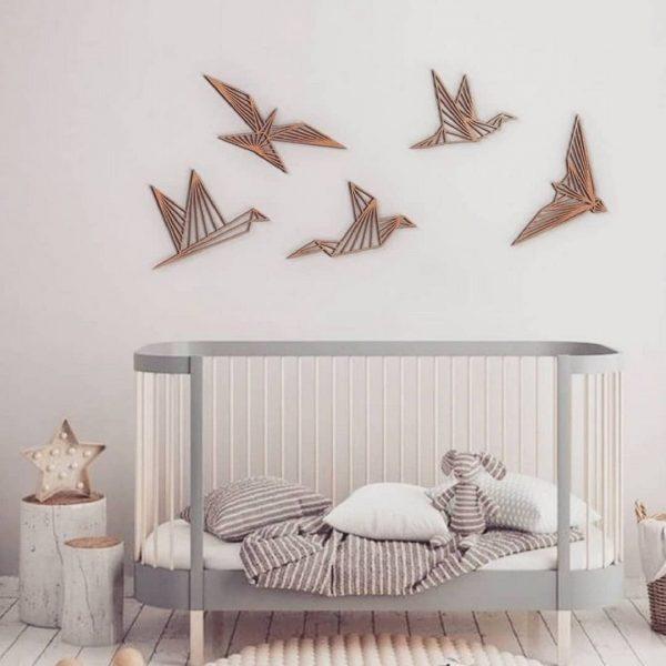 Макет панно стая птиц