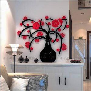 Макет панно ваза с цветами