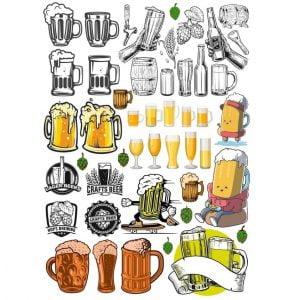 Набор логотипов пива