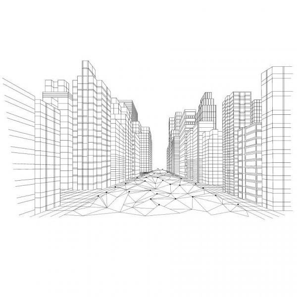 Полигональный мегаполис