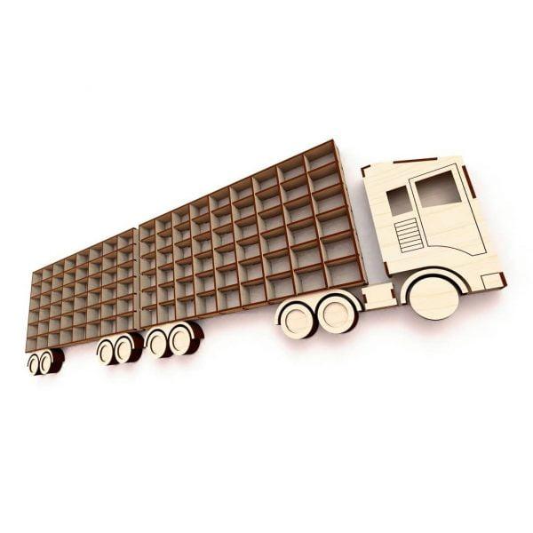 Макет полки грузовик с прицепом