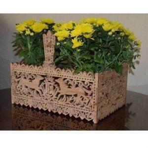 Прямоугольная корзинка для цветов