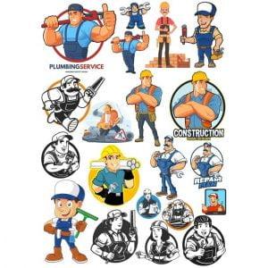 Векторные рисунки рабочих