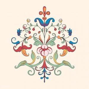 ретро орнамент цветок