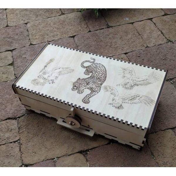 Макет шкатулки с леопардом