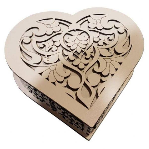 шкатулка сердце 4 макет