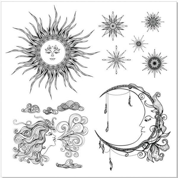 Солнце, месяц, звёзды, ветер
