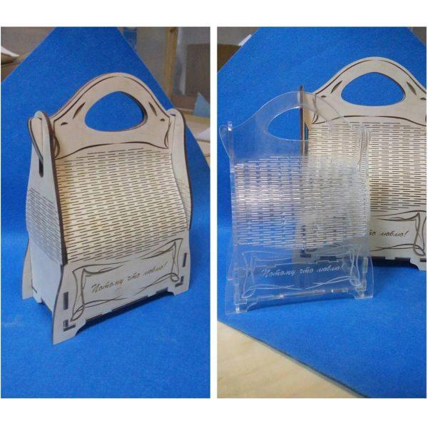 макет сумки подарка