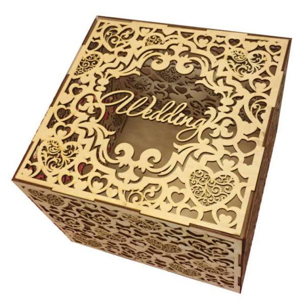 Резная свадебная коробочка