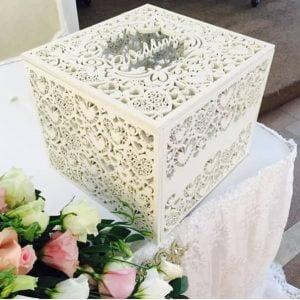 Макет свадебной коробки с сердечками