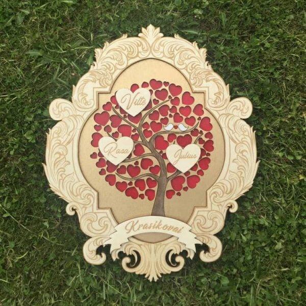 Макет свадебного декора дерева