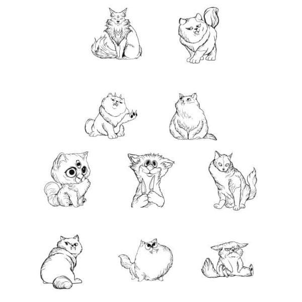 Векторные рисунки забавных котов