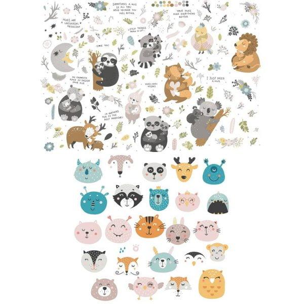 Рисунки забавных животных в векторе