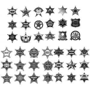 Звёзды шерифа в векторе