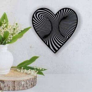 Макет панно 3Д сердце