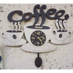 Макет часов 3 чашки кофе