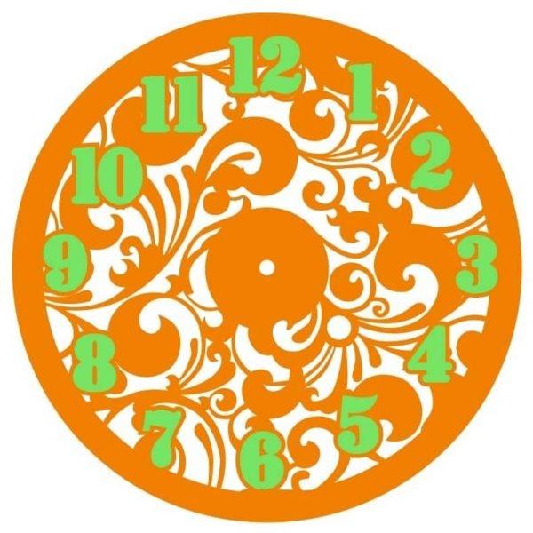 Часы с цветочным узором