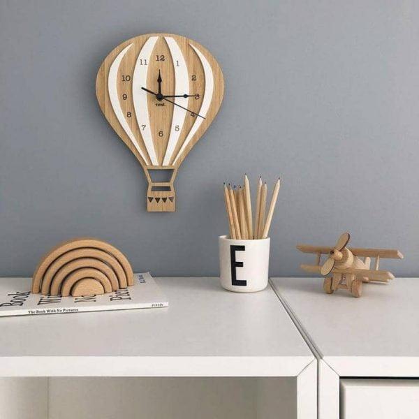 Часы воздушный шар макет