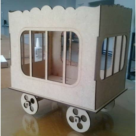 Макет циркового вагончика