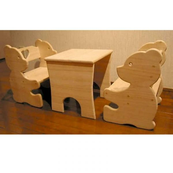 Макет детского набора стол и стулья