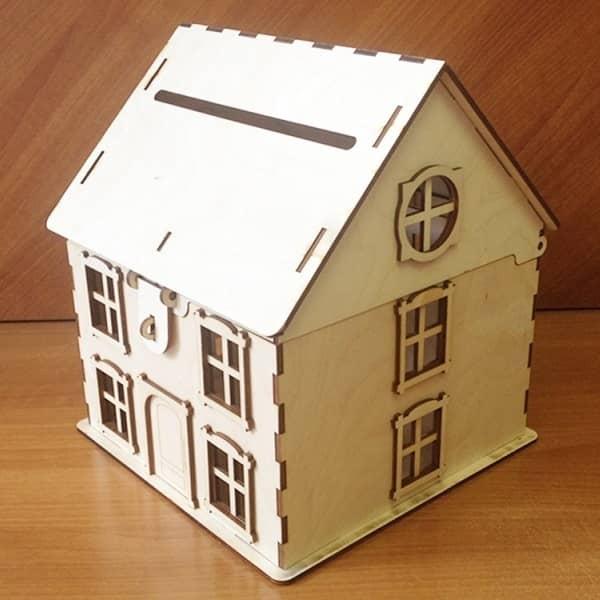 Макет дома копилки с откидной крышей