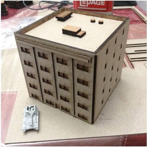 Макет пятиэтажного дома