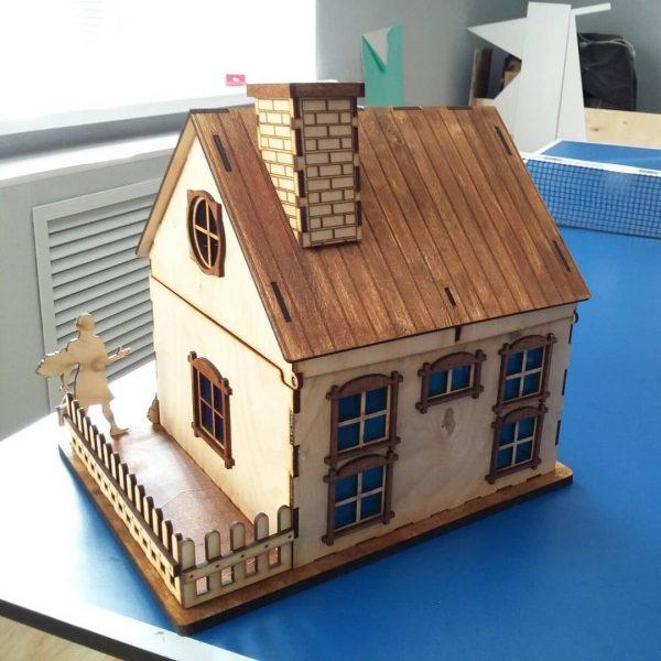 Домик с палисадником макет