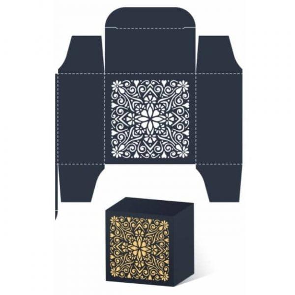 картонная коробка с узором