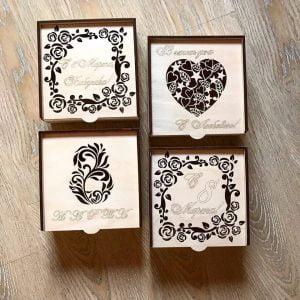 Макет коробки для конфет