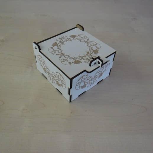 Макет коробки для украшений