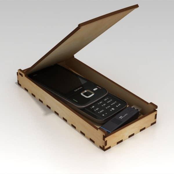 Макет коробки с откидной крышкой