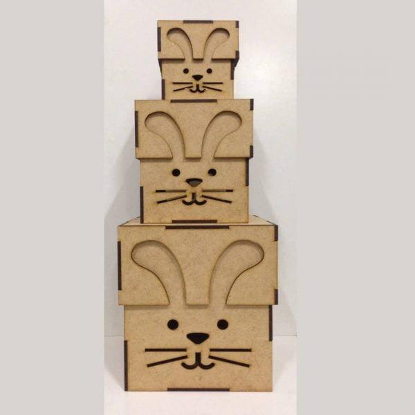 Макет коробки зайца