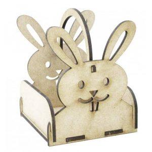 Макет корзинки заяц