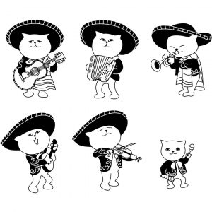 Коты музыканты рисунки