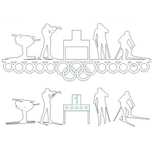 Медальница биатлон