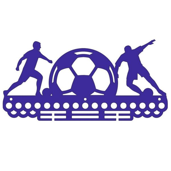 Медальница футболисты и мяч