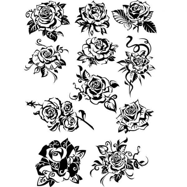 Набор цветов розы