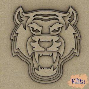 Панно тигр многослойное