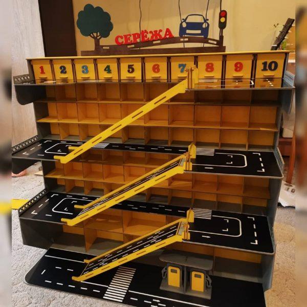Макет парковки 4 этажа