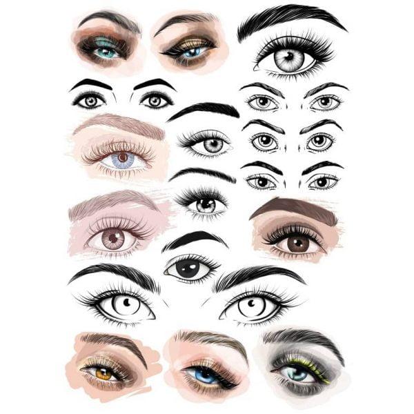 Рисунки глаз в векторе