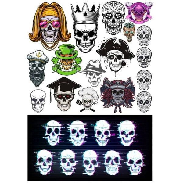 Рисунки черепов 2