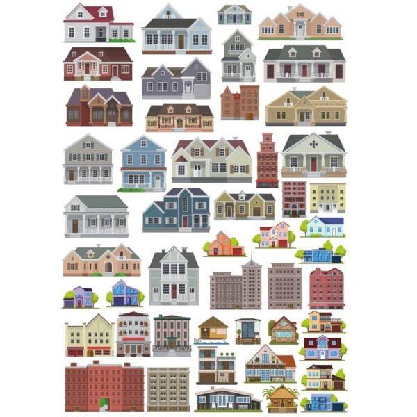 Рисунки домов и зданий