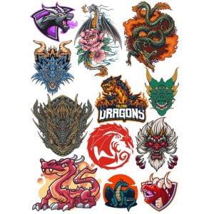Рисунки дракона в векторе 2