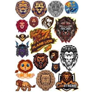 Рисунки львов в векторе