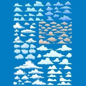 Набор рисунков облаков
