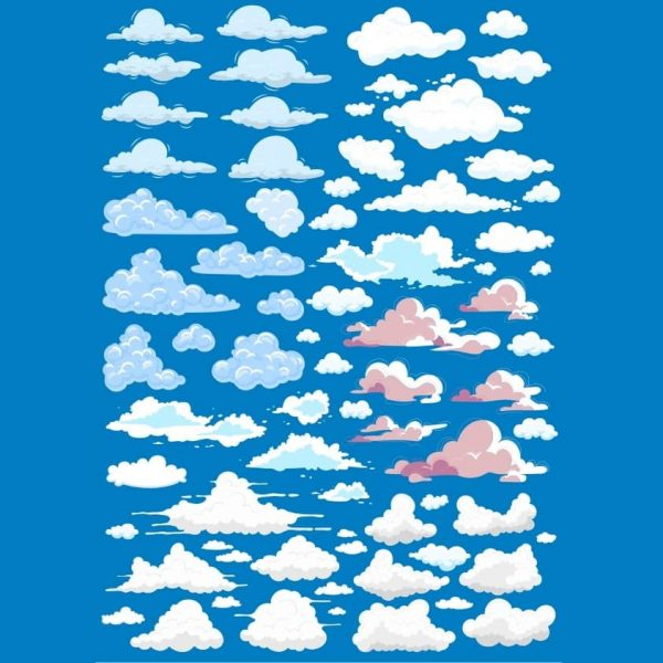 Набор рисунков облаков 3