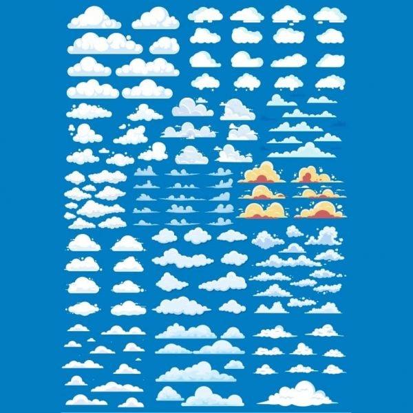 Набор рисунков облаков 4